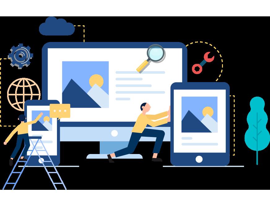 A vector Illustration of Web development services